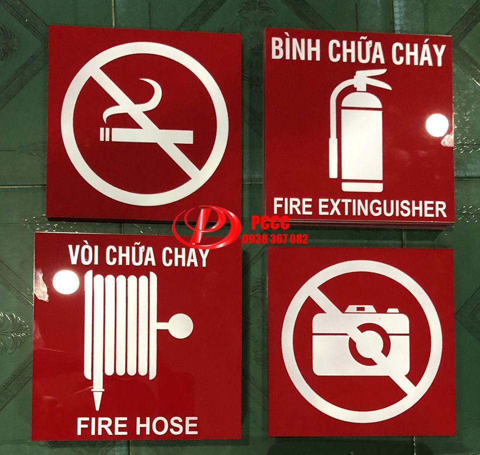 Biển báo cuộn vòi chữa cháy mica – fire hose