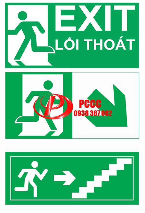Bảng Exit chỉ lối thoát hiểm Mica