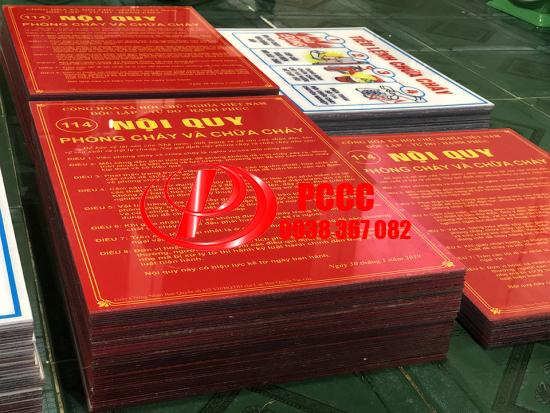 Bảng nội quy tiêu lệnh chữa cháy PCCC mica