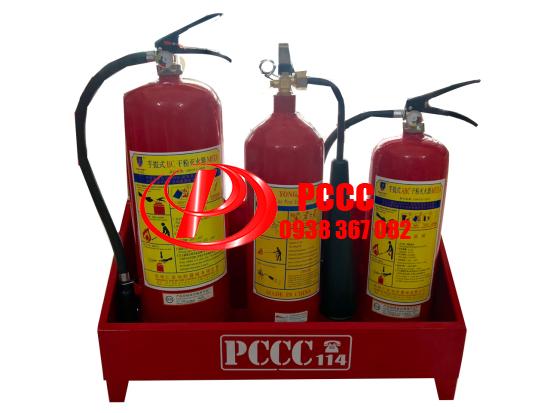 Báo giá kệ đựng ba bình chữa cháy giá rẻ TPHCM