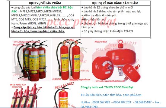 Dịch vụ nạp sạc bình chữa cháy,Bơm bình cứu hỏa