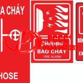 Biển báo nơi để bình chữa cháy - Biển báo chuông báo cháy - Biển báo vòi rồng chữa cháy